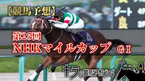 第25回 NHKマイルカップ(GⅠ)【データ・調教・最終予想・買い目】